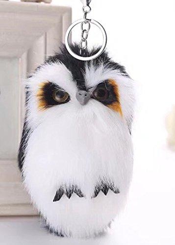 Llavero colgante de adorable animal pequeño - decoración para bolso o coche, o para regalo, Owl-Black