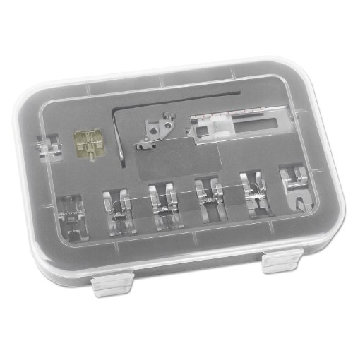 11-teiliges Füßchenset Pfaff Nähfuß Set 5mm Stichbreite mit IDT