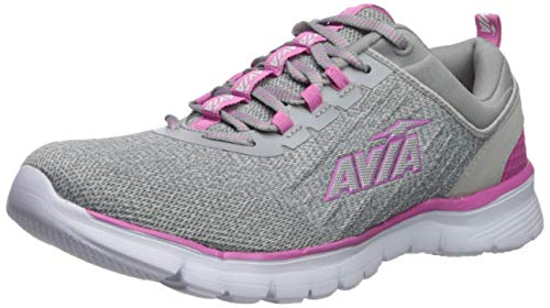 Avia Women's Avi-Factor Sneaker, Alloy/Phlox/Silver, 7.5 Medium US