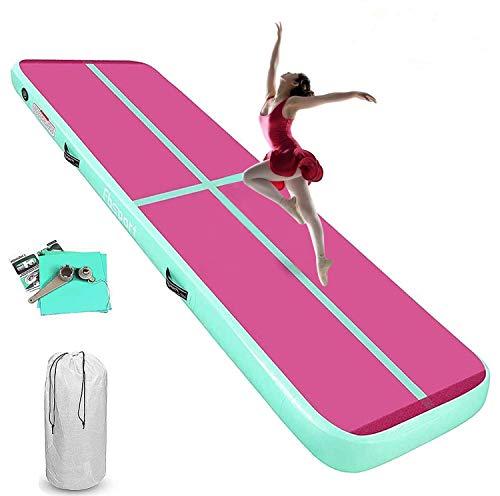 KIKILIVE Esterilla de gimnasia hinchable de 20 cm de alto, 6 m, para fitness, yoga, entrenamiento, etc.