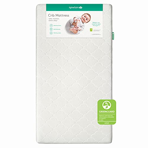 Newton Baby Crib Mattress and Toddler Bed - 100% Breathable Proven to Reduce Suffocation Risk, 100% Washable, 2-Stage, Hypoallergenic Non-Toxic Better Than Organic, Removable Cover Included- White