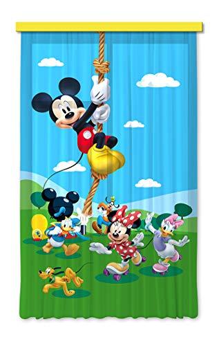 Gardine/Vorhang FCS L 7106 Disney, Mickey Mouse, 140 x 245 cm, 1-teilig