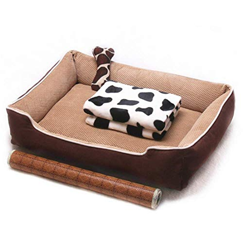 KPTKP Luxury pet bed for cats and small and medium-sized dogs. Corn fleece is fully removable and washable. Sleep-improving cushion, non-slip and machine washable,XXL