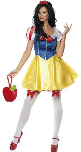 Generique - Sexy Märchen-Prinzessin Damen-Kostüm gelb-blau - L