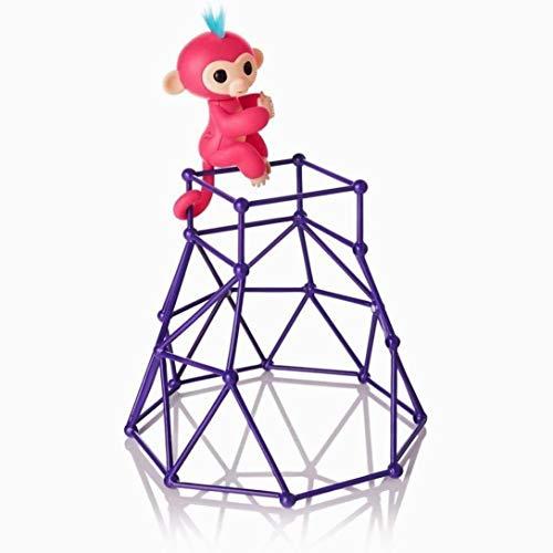 Hilai Fingerling Interaktive Baby-Affen Pet Spielzeug Klettern playset Rahmen Kletter Ständer Seesaw Swing Set (Affe ist Nicht Enthalten)