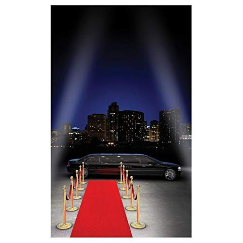 Chaks Costumes et Mariage Grand Tapis Luxe Rouge Velours jetable 5 m, Luxe