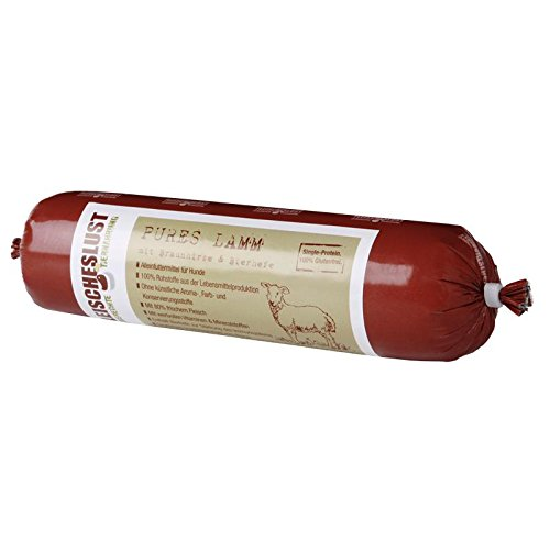 Fleischeslust Singleproteine Pures Lamm Hirse | 800 g Hundef.