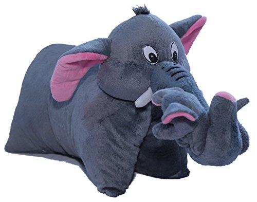 Amardeep and Co Fun Pillow - Elephant (Gray) - ad201