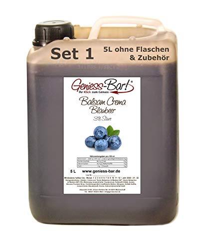 Balsamico Creme Blaubeer 5L Mit original Crema di Aceto Balsamico di Modena IGP