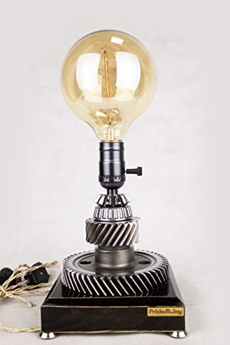 Industrial Table Lamp Pride&Joy steampunk car part lamp Gift for him Exclusive light auto part metal lamp exclusive unique gift for men