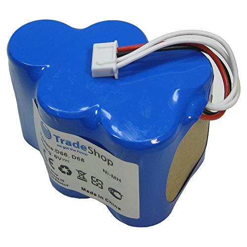 Trade-Shop Ni-Mh Akku, 6V / 4500mAh / 27Wh für Ecovacs Deebot D62 D62s D63 D65 D66 D68 D73 D73n D76 D77 D79 D650 D660 D680 D710 D720 D730 D760 ersetzt LP43SC3300P5 945-0005 945-0006 945-0024 205-0001