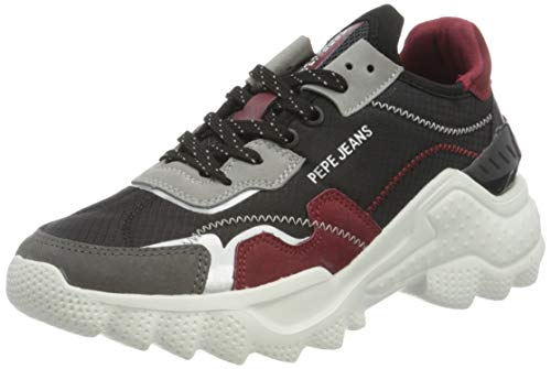 Pepe Jeans London Damen Eccles Nylon Sneaker, 993SMOG, 39 EU