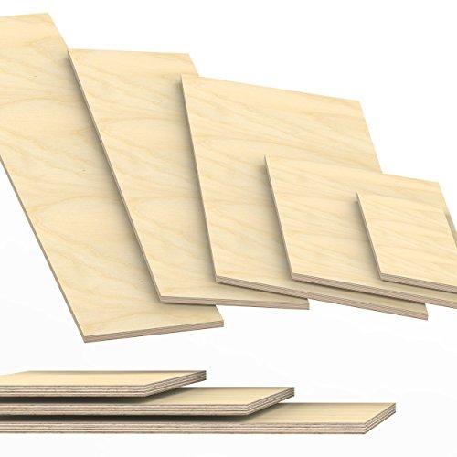12mm Multiplex Zuschnitt Länge bis 200cm Multiplexplatten Zuschnitte Auswahl: 80x40 cm