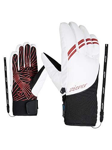 Ziener Damen KIWA AS Ski-Handschuhe/Wintersport | Wasserdicht, Atmungsaktiv, White, 7,5