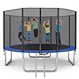 Famistar 14FT Trampoline with Safety Enclosure Net, ASTM Approved Jump Recreational Trampolines, Combo Bounce Outdoor Backyard Trampoline for Kids Adults Family(Up to 4-5 Kids)