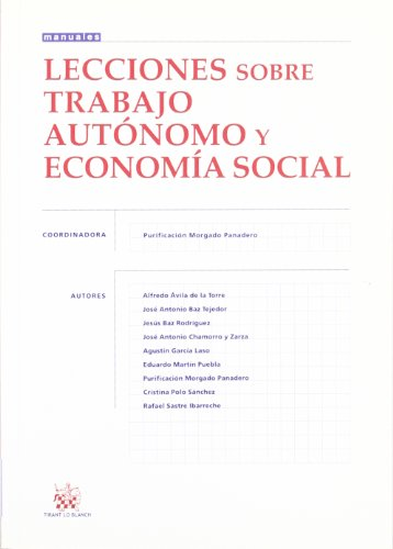 Lecciones sobre trabajo autónomo y economía social