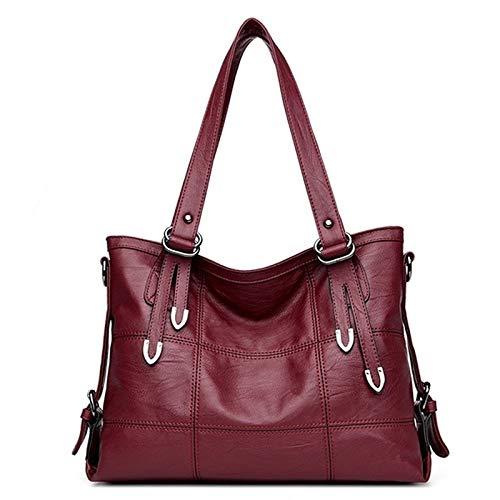 FHBDFJTWomen'S lederen handtassen luxe dame handtassen met portemonnee zak vrouwen Mesger tas grote Tote Bols,
