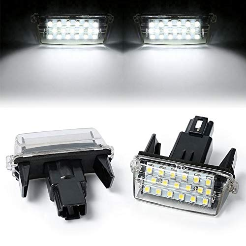 TFWYYJ 2 unids LED Licencia Número de Placa Lámparas de luz para Toyota Highlander Vitz Ractis Verso S Voxy Yaris EZ Sai Noah PROACE Car-Styling (Color Temperature : 6000K, Emitting Color : White)