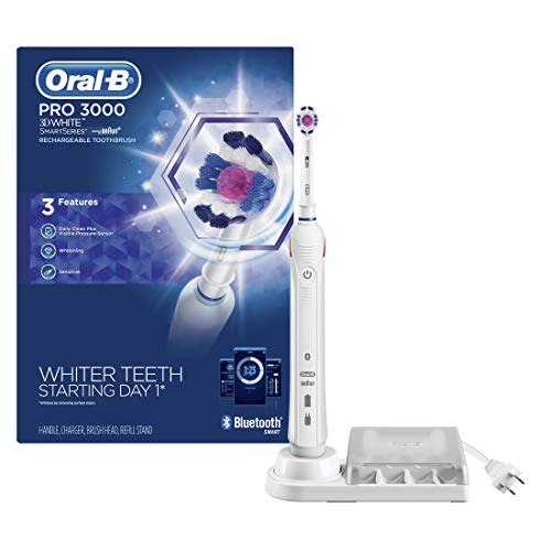 Oral-B 3000 Smartseries Electric Toothbrush with Bluetooth Connectivity, White Edition, Powered by...