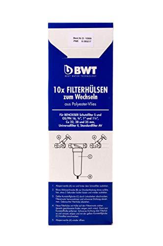 BWT Filterhülsen zum Wechseln aus Polyester-Vlies, 10 Stück, 10999