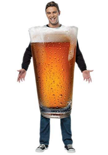 Rasta Imposta Beer Pint Costume, Gold, One Size
