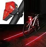 Feu arrière de vélo USB Rechargeable Bike Tail Light 2 sources de lumière LED et LD 3 modes d'éclairage Clips facilement sur feu arrière rouge étanche avec câble USB et chargeur pour la sécurité