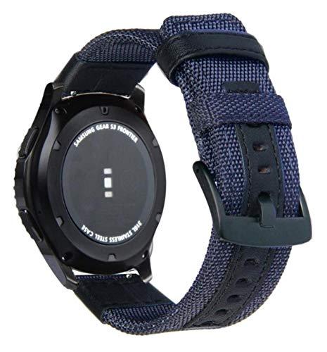 20mm 22mm correa de reloj de tela de nailon para Samsung Galaxy Watch 3 Active2 Gear S3 reemplazo para correas HUAWEI Watch GT2