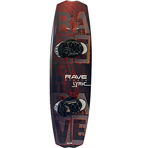 Rave Sports Lyric Premier Wakeboard With Bindings Package - Red