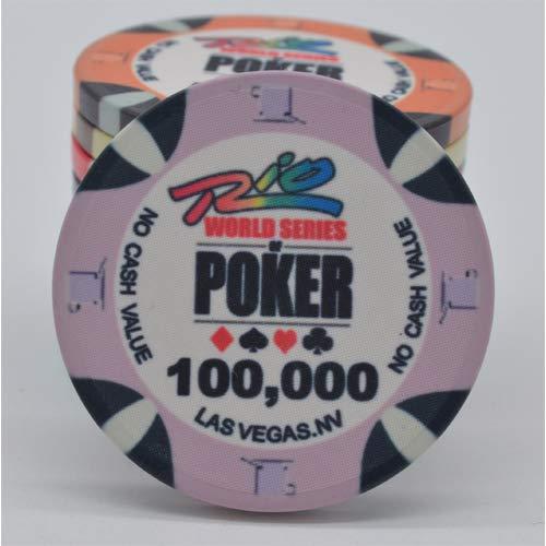 PokerShop Fiches Ceramica WSOP Rio Replica Valore 100000