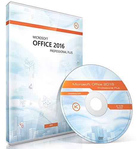 Office 2016 Professional Plus (inkl. DVD, 32/64 Bit, Lizenzkey, Lizenzunterlagen, Audit-Sicher, Dauerlizenz inkl. Updates, deutsch)