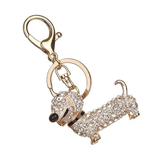 VALICLUD Llavero de Perro de Diamantes de Imitación Brillante Llavero con Encanto...