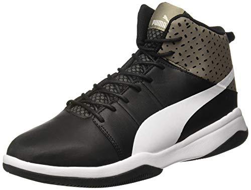 PUMA Men's Rebound BBX Perf IDP Black-Charcoal Gray White Sneakers-8 UK/India (42 EU) (4060979667556)