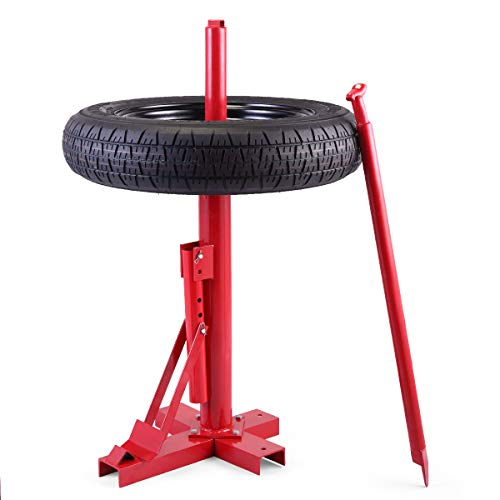JAXPETY Manual Tire Changer for Car/Truck/Motorcycle Portable Hand Tool Tire Bead Breaker, Red