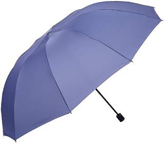 AINIYF Extra Large Three-Person Sun Protection UV Umbrella, Windproof Folding Dual-use Umbrella (Color : Light Blue)