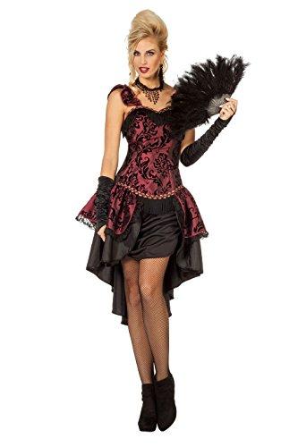 Wilbers&Wilbers W4706-36 - Disfraz de burlesque para mujer, color rojo y negro, talla 36