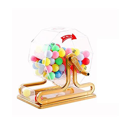 FU LIAN Máquina de lotería Manual con 100 Bolas Digitales Coloridas, Mano de Obra Fina, Material acrílico, Adecuado para centros comerciales, lotería Corporativa, clasificación de licitación
