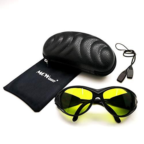 MCWlaser Gafas protectoras de seguridad láser Gafas 190-440 y 780-900nm, 900-1100nm, 10600nm Típico para 355nm 405nm 808nm 810nm 980nm 1064nm 1085nm 10600nm Tipo de absorción EP-17 Estilo 2