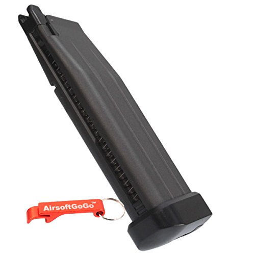 AirsoftGoGo We Airsoft CO2 Hi-Capa 5.1 Serie Pistol Cargador Llavero Incluido