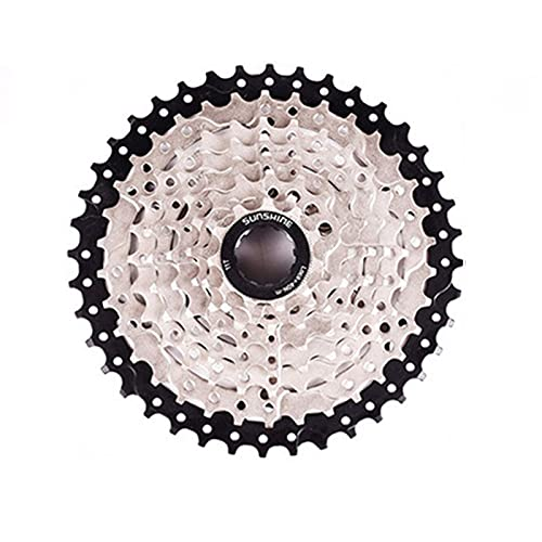 PGONE 11-40T Cycling Freewheel Block Screw 8 Speed Index, MTB Silver Bicycle Part Freewheel Sprocket Refit, Suitable For XD/Cassette Bike Feelwheel