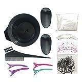 yotijar 11 Unids/Set Salon Hair Color Dye Bowl Cepillo Peine