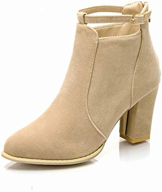 HOESCZS Frauen Schuhe Herbst Und Und Winter High Heel Dick Mit Stiefeletten Large Größe Damenschuhe  Großhandel billig und von hoher Qualität