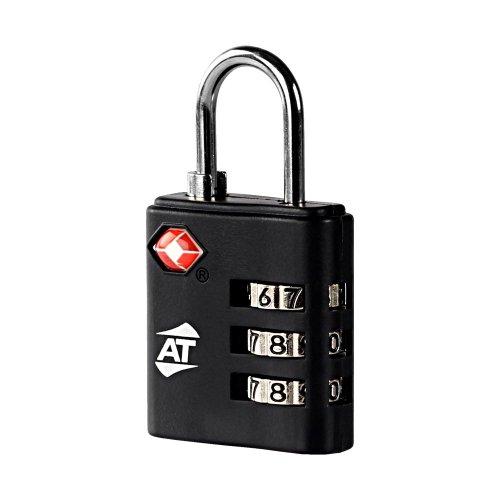 [アメリカンツーリスター] バッグ用ロック 旅行小物 鍵 TSA 3ダイヤル コンビネーション ロック ブラック 6 cm 0.01kg