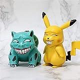 liuyb 2 Unids / Set Pokemon Miserable Parodia Pikachu Venusaur Figura De Acción Muñecas Juguetes De Cumpleaños para Niños 10 / 15Cm