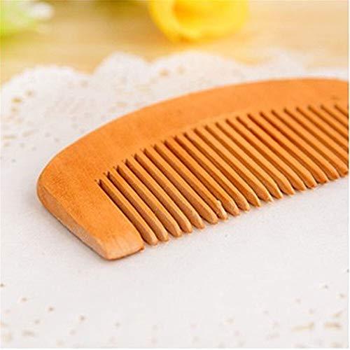 Starry Sky Natuurlijke Peach houten kam voor ontspannende baardmassage, close-tanden anti-statische haarborstel haarverzorging gereedschap geschikt voor reizen
