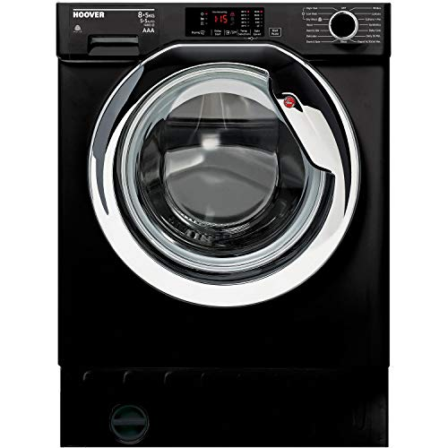 Hoover HBWD8514DCB/1-80 HBWD8514DAC-80 8kg Wash 5kg Dry 1400rpm Integrated Washer Dryer - Black