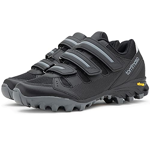 Tommaso Vertice 100 Men's All Mountain Vibram Sole Mountain Bike Shoes - 46 Black