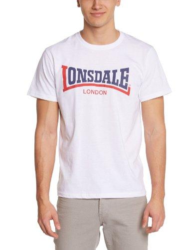 Lonsdale Herren Langarmshirt T-shirt Trägerhemd Two Tone weiß (weiß) Large