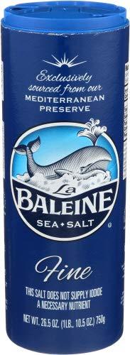 La Baleine Sea Salt Fine Crystals Canister, 26.5 Ounce