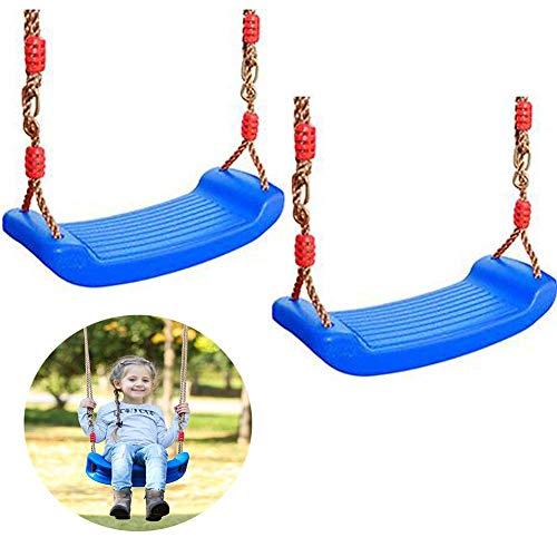 YLJYJ 2 pièces Aire de Jeux balançoire siège Forte balançoire d'arbre pour l'extérieur Cour de récréation Parc détient 150 kg pour 3-10 Ans Enfants Enfants, Rouge
