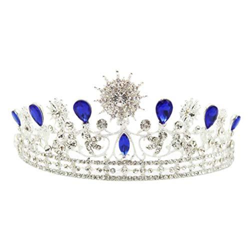 Beaupretty Corona de Diamantes de Imitación Tiara Corona Barroca Princesa Reina Diadema...